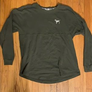 VS PINK Long Sleeve! -Olive Green